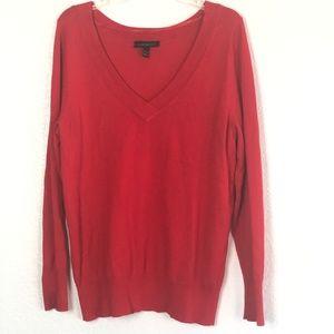 Lane Bryant Women's Red Sweater V-Neck 102K